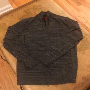 Gray 1/4 zip sweater